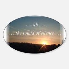 Sound of Silence Oval Decal