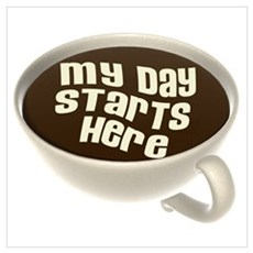 My Day Starts Here Poster