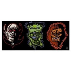 3 Monsters Poster