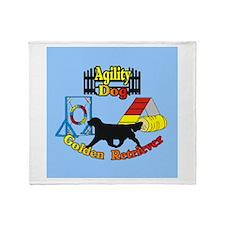 Agility Golden Retriever Throw Blanket