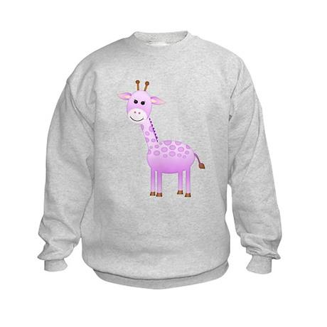 Purple Giraffe Kids Sweatshirt