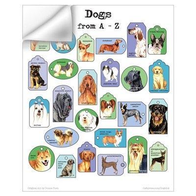 Dogs A-Z Wall Decal