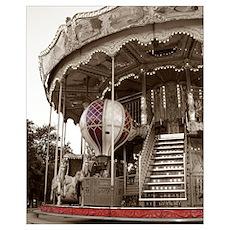 Paris Carousel Poster