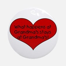 what happens at grandmas stay Ornament (Round)
