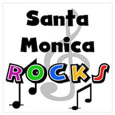 Santa Monica Rocks Poster
