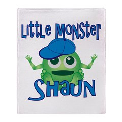 Little Monster Shaun Throw Blanket