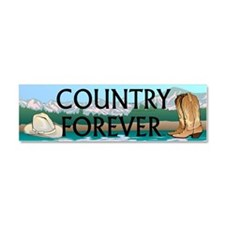 Country Forever Car Magnet 10 x 3