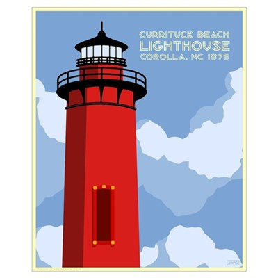Currituck Lighthouse Canvas Art