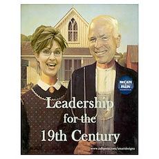 19th C. McCain & Palin Poster