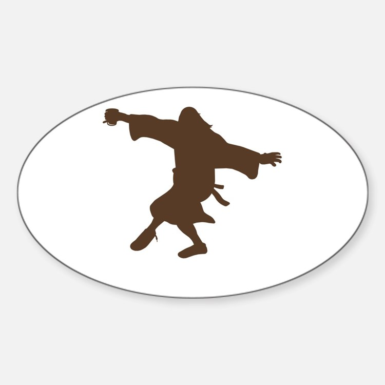 Dancing Dude Sticker (Oval)