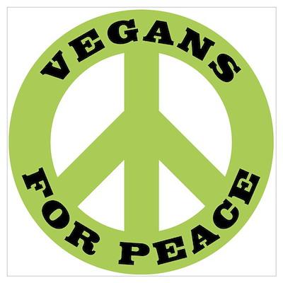 Vegans For Peace Poster