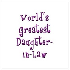 World's Greatest Daughter-in-Law Poster