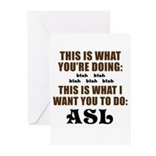 THIS IS WHAT I WANT YOU TO DO Greeting Cards (Pack
