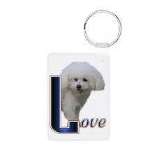 Bichon Frise Love Keychains