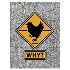 Why did the Chicken Cross? Framed Print