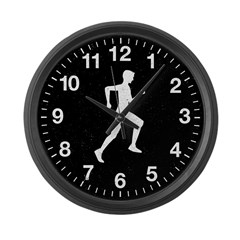 Male Runner Large Wall Clock