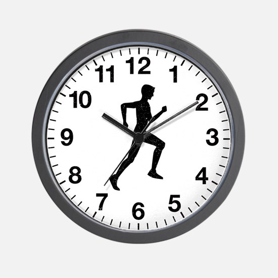 Male Runner Wall Clock