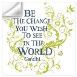 Be the change Wall Decals