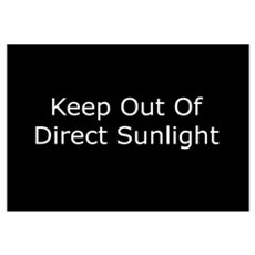 Keep Out of Direct Sunlight Canvas Art