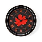 Red Leaf Wall Clock