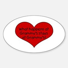 What happens at grammy's stay Oval Decal