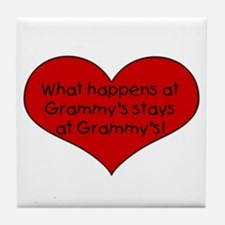 What happens at grammy's stay Tile Coaster