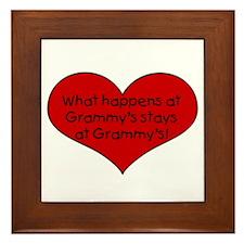 What happens at grammy's stay Framed Tile