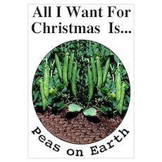 Christmas Peas Poster