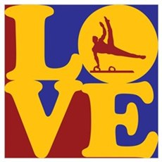 Gymnastics Love Poster