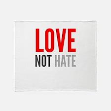 Love Not Hate Throw Blanket