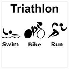 Triathlon Swim Bike Run Poster