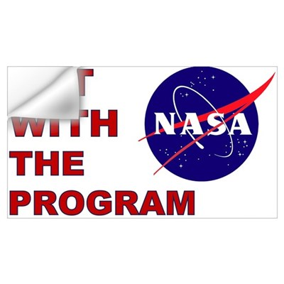 NASA: Get With The Program Wall Decal