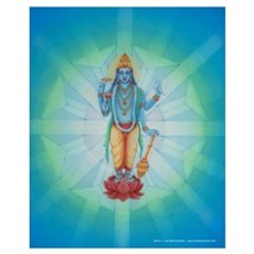mg - Vishnu with Vedic Crystal Poster