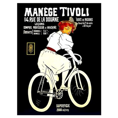 Manege Tivoli French Bicycles 9x12 Poster