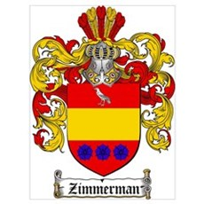 Zimmerman Coat of Arms Crest Poster