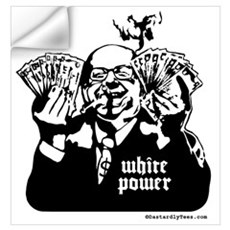 White Power Wall Decal