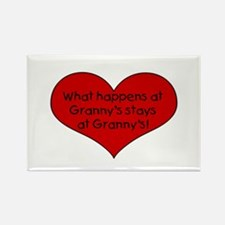What happens at granny's stay Rectangle Magnet