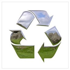 Recycle Symbol Canvas Art