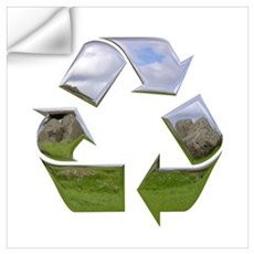 Recycle Symbol Wall Decal