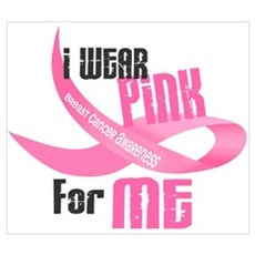 I Wear Pink For Me 33 Canvas Art