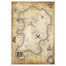 Pirate Map 16x20