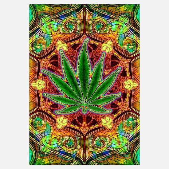 Psychedelic Marijuana Mandala