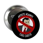 Artists Against Chris Christie political button