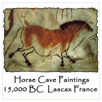 Horse Cave Painting Petroglyph Poster