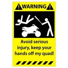 Quad Warning Framed Print
