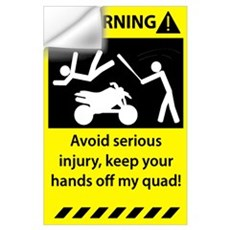 Quad Warning Wall Decal