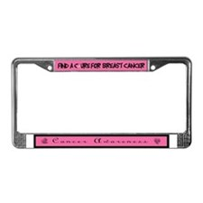 Cancer Awareness License Plate Frame