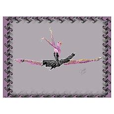 Ballerina in Grande Jete Poster