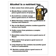 Alcohol is a Nutrient Too Poster