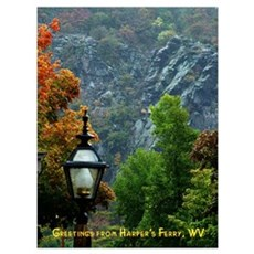 Harper's Ferry in the Fall Poster